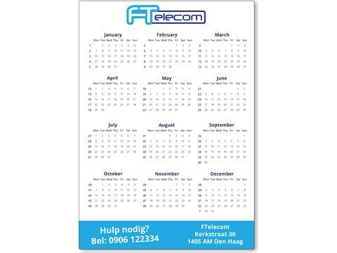 Kalender magneet A4