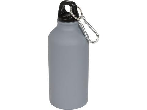 Matte drinkfles met karabijnhaak - 400 ml
