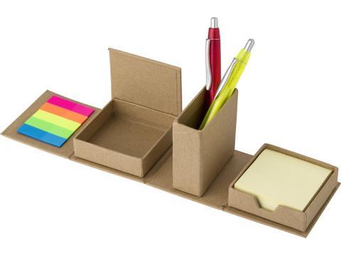 Etui en carton contenant des papiers repositionnables