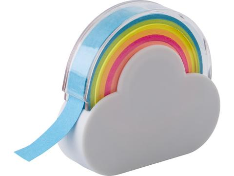 Cloud and rainbow memo tape dispenser