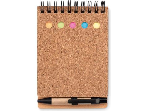 Memoboekje met sticky notes