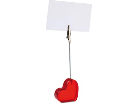 Clip en forme de coeur