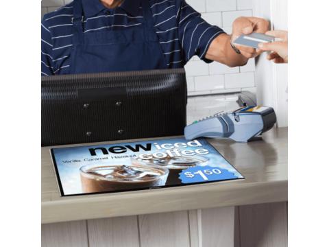Mesa counter poster display A4
