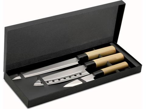 Japanese style knife set
