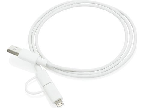 Câble 2 en 1 certifié MFi