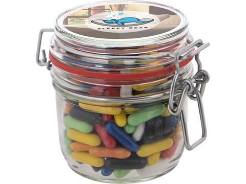 Midi bewaarpot gevuld met snoepjes - 0,25L