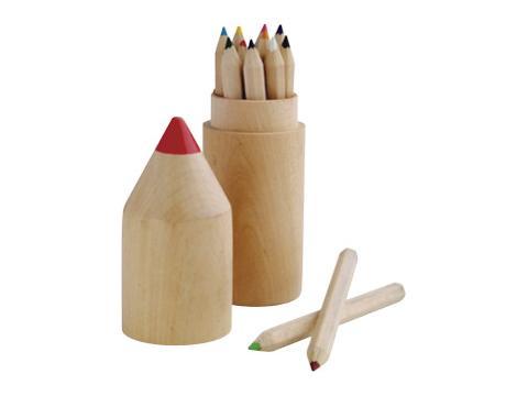 12 Pcs Pencil Case Green Concept