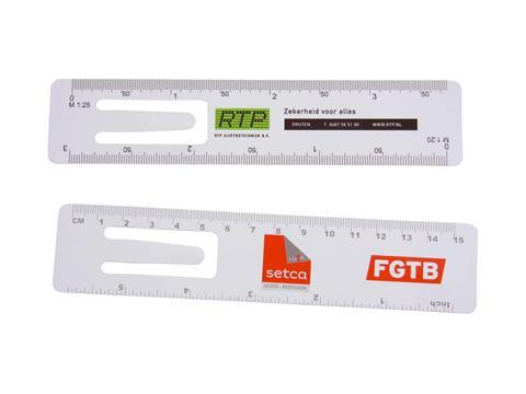 Bookmark ruler 15 cm