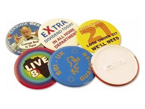 Button badges 54 mm. round