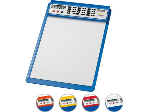 Clipboard with solar calculator