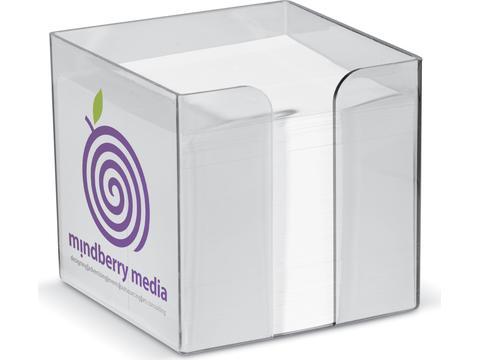 Cube-papier transparentes
