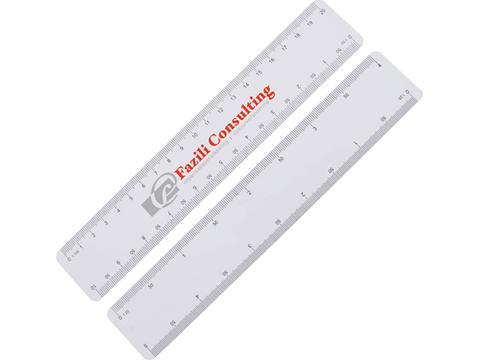 Règle mailing 4 échelles, 200 mm. 210 x 38 x 1 mm en plastique.