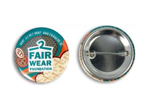 Metalen buttons 37 mm