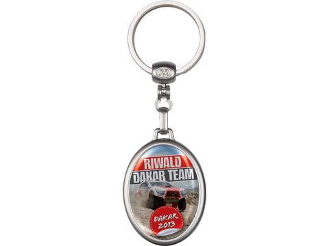 Metalen ovale sleutelhanger