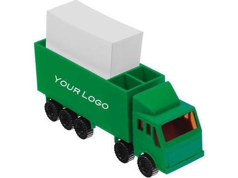 Collecteur de fiches en forme de camion