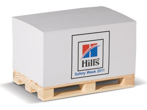 Cube papier rectangulaire palette bois