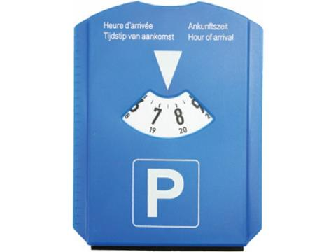 Parking disc with coins.