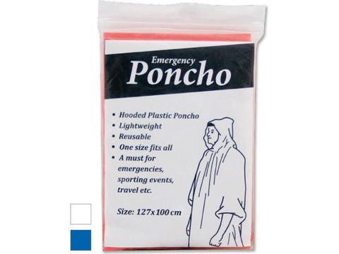 Poncho en plastique avec capuche