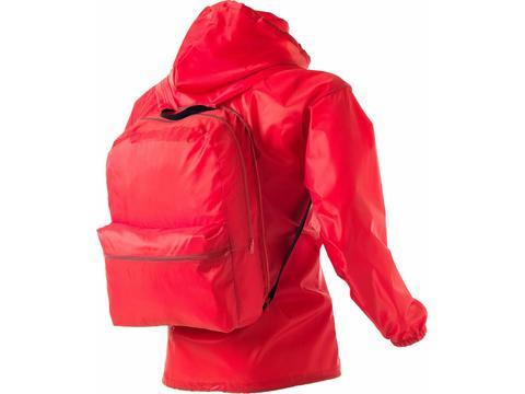 Backpack rain jacket