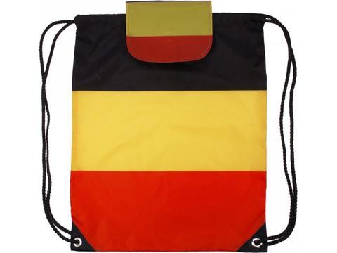 Rugzak in de Belgische kleuren