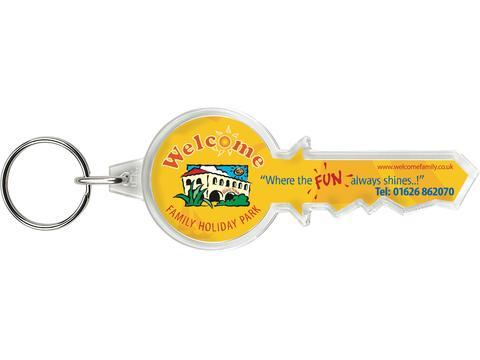 Sleutelhanger in vorm sleutel
