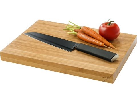 Cutting board and chef knife