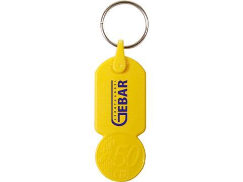 Porte-clés avec jeton caddie