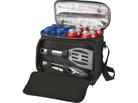 Mill 2-piece bbq set with cooler bag.