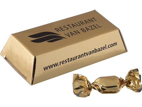 Mini goudstaaf met gouden zuurtjes