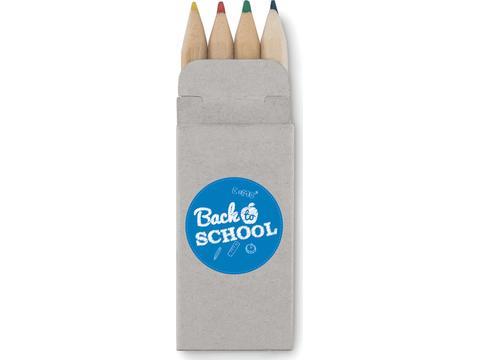 4 mini coloured pencils