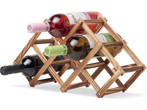 Fodable wooden wine rack