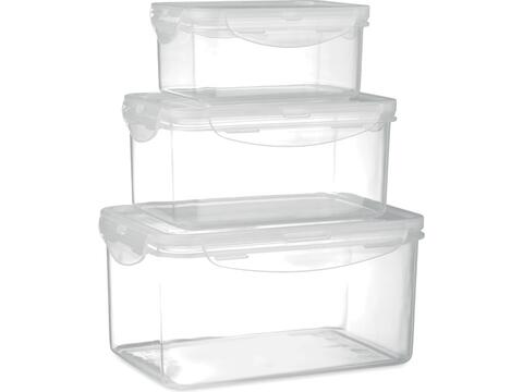 Set of 3 food storage boxes