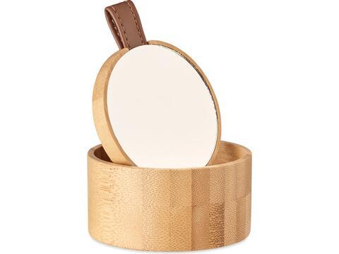 Bamboo mirror jewellery box