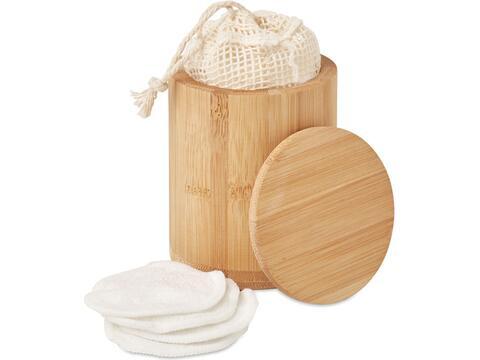 Bamboo fibre cleansing pad set