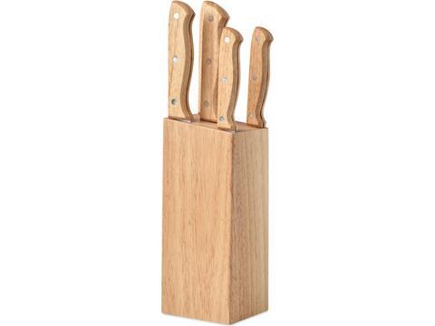 Set de 5 couteaux dans socle