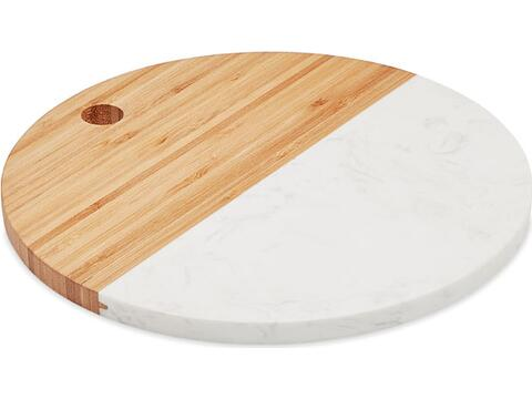 Marble / Bamboo serving board