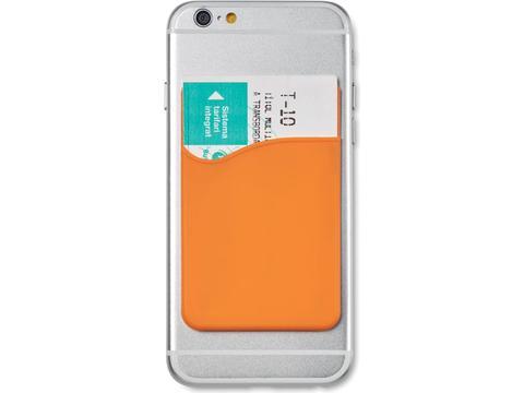 Siliconen kaarthouder voor smartphone