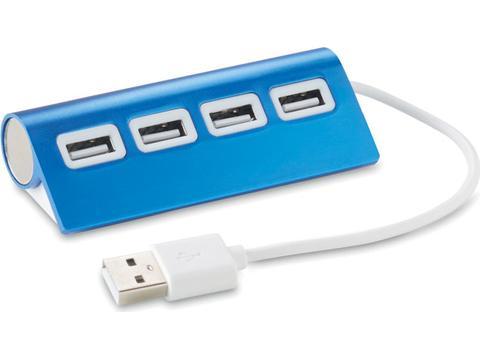 Alu 4 port USB hub