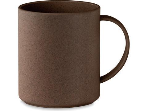 Single wall mug made of coffee husk