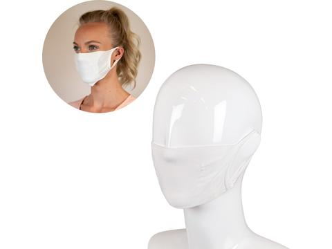 Double layer re-usable face mask with space for filter