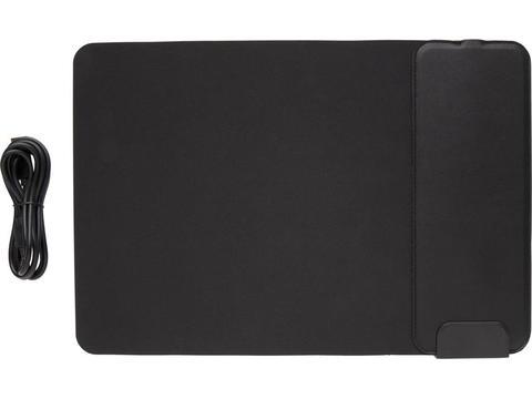 Tapis de souris avec ports USB et chargeur à induction 15W