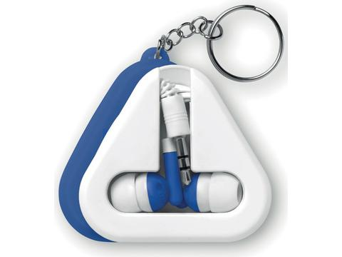 Earphones case with keyring