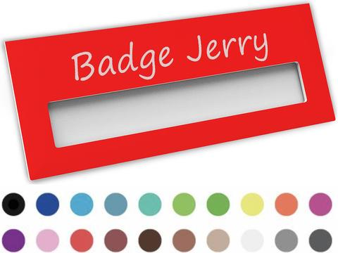 Badge nominatif 74 x 30 mm