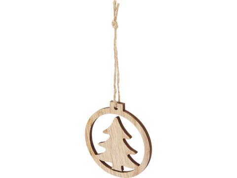 Natall houten kerstboom ornament