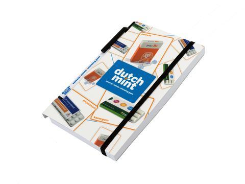 Notitieboek met pen uitsnijding