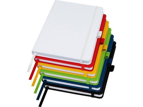 Notitieboek van gerecycleerd papier met gerecycleerde PET cover