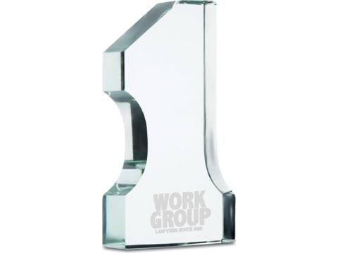 Trophée numéro 1 en verre