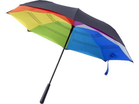 Automatic reversible pongee umbrella