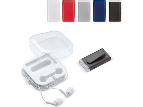 Set écouteurs/récepteur de musique sans fil 90mAh
