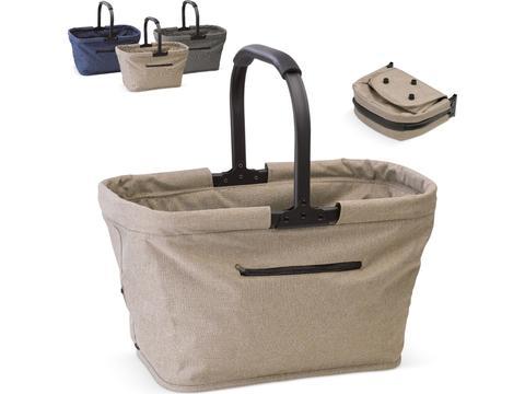 Foldable shopping basket